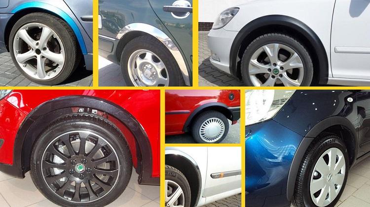 Виды накладок на колесные арки