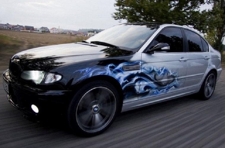 Машина с аэрографией