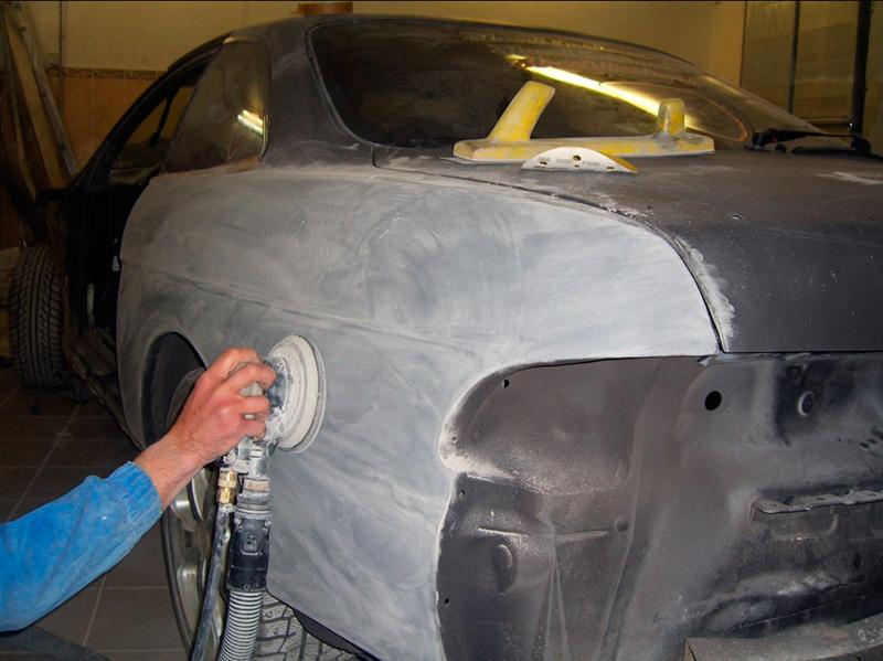 Шлифовка авто перед покраской