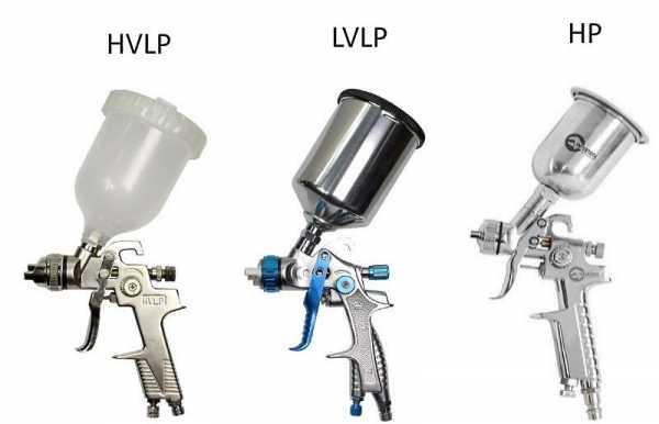 Краскопульты HP, LVLP, HVLP