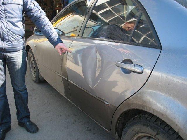 Вмятины на авто