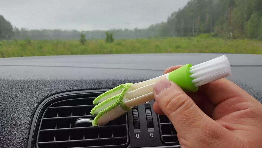Тряпка-трезубец и щетка для авто