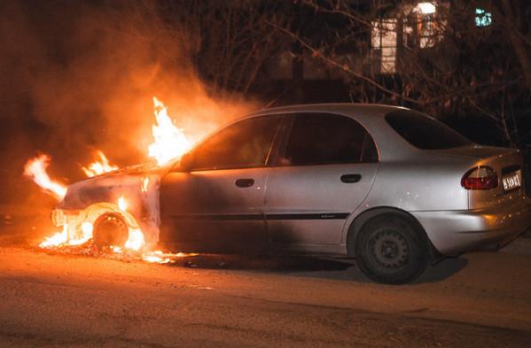 Возгорание машины
