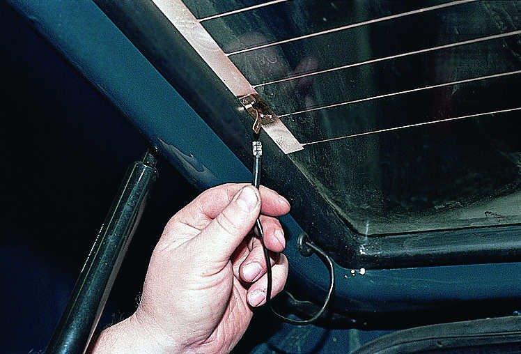 Контакты проводов обогревателя для стекла