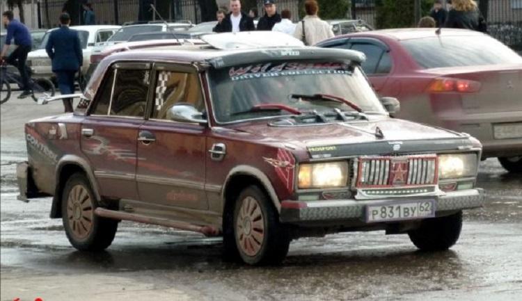 авто Копейка со спойлерами
