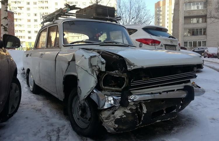 Москвич 2140 после ДТП