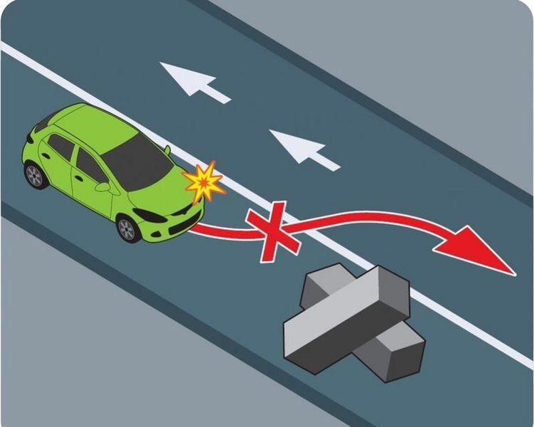 Схема объезда препятствия
