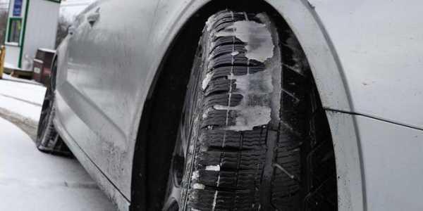Лед на покрышке авто