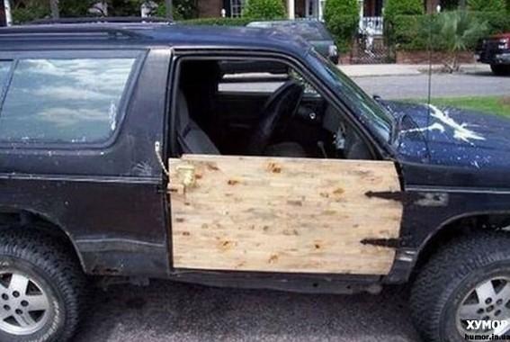 Деревянная дверь авто