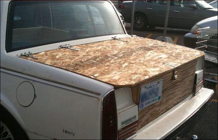 Багажник из дерева