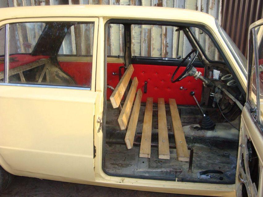 Лавочка в авто вместо кресла