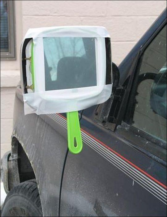 Зеркало с ручкой вместо боового автозеркала