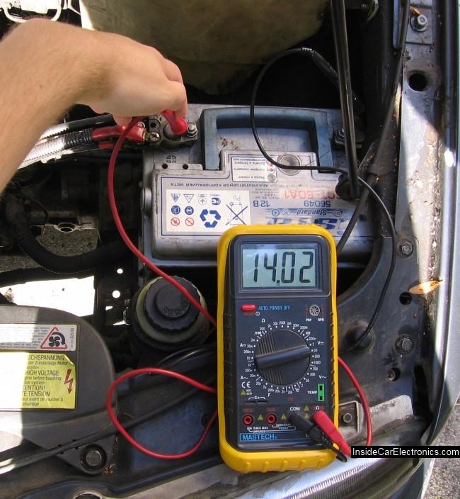 Проверка заряда аккумулятора амперметром