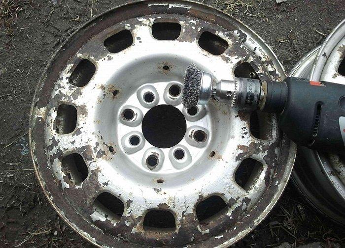 Ржавый диск перед шлифовкой