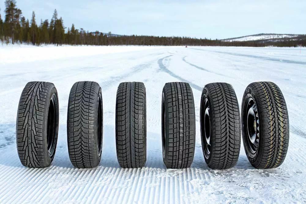 Шины с разным протектором на снегу