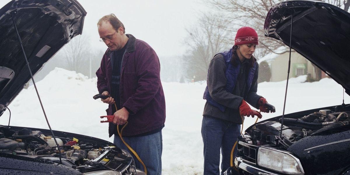 Прикуривание авто зимой