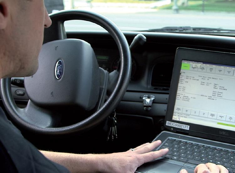 Ноутбук в машине