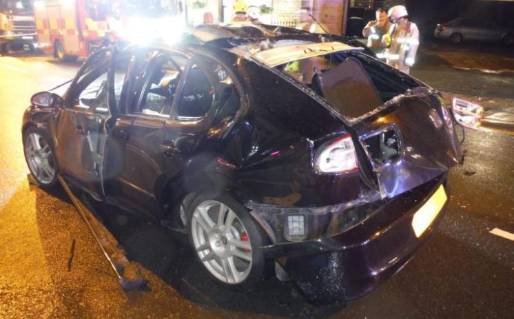 Авто после взрыва