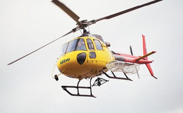Вертолет-такси в небе
