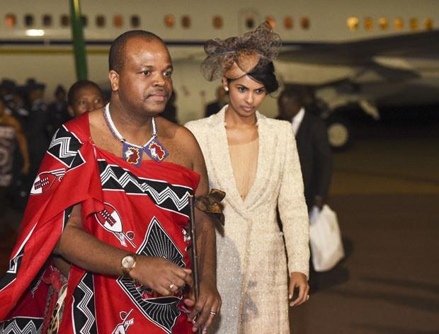 Африканский король с женой
