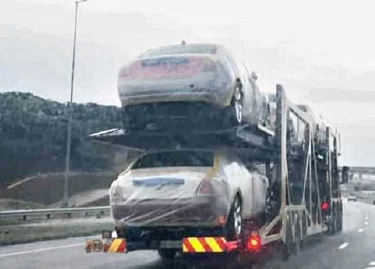 Дорогие машины на автовозе для Мсвати III