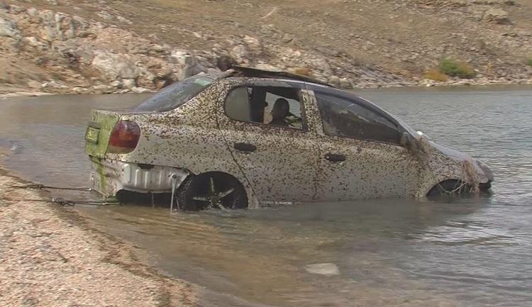 Автомобиль носом в воде