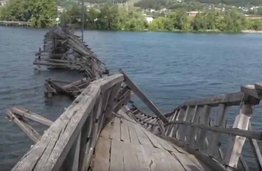 Белорецкий мост рухнул