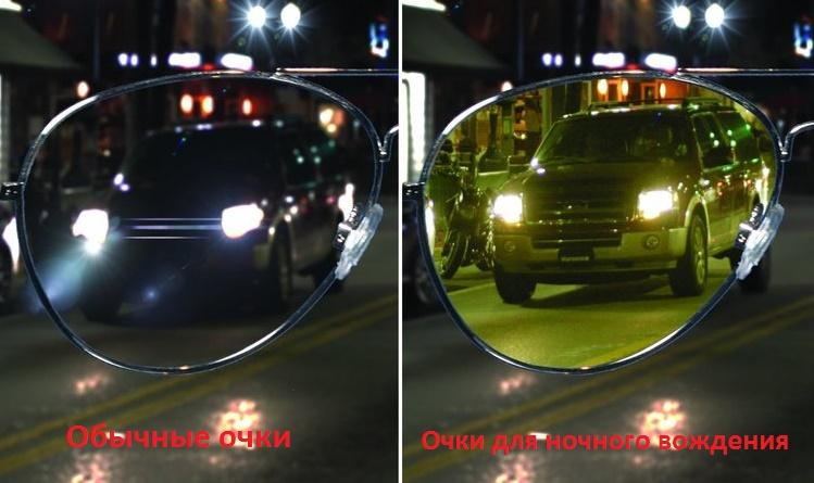 Видимость в обычных и ночных очках