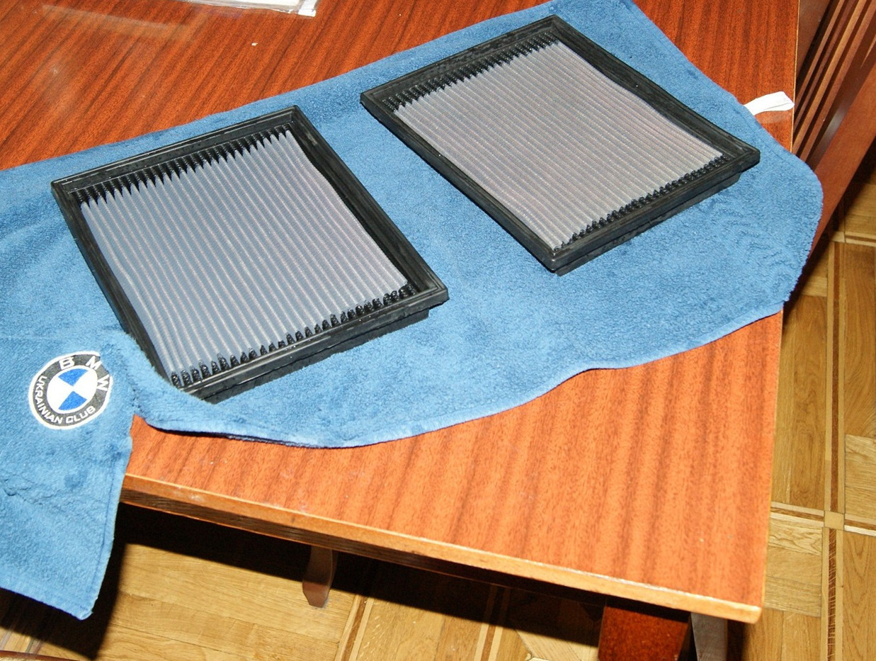 Салонные фильтры на полотенце