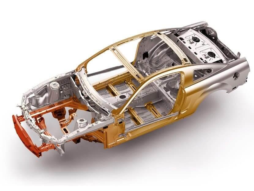 Силовая рама легкового автомобиля