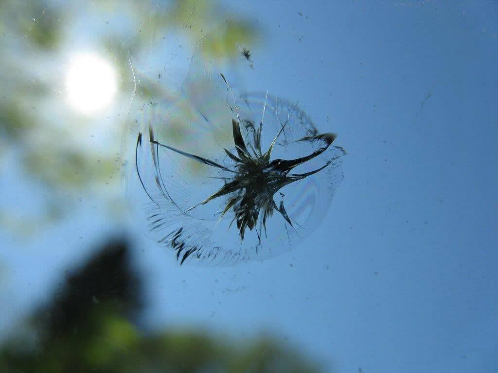 Сколы на лобовом стекле автомобиля