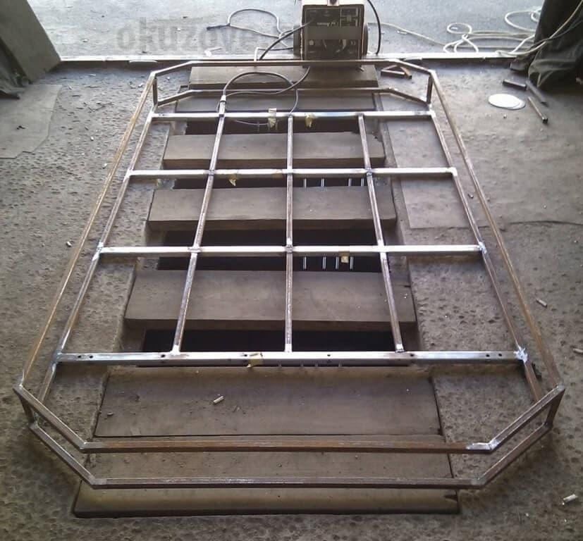 Изготовление верхней части багажника автомобиля