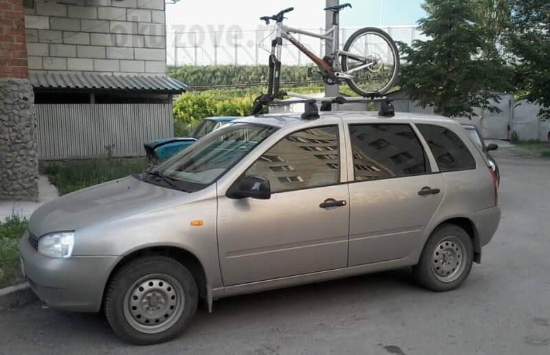 Багажник на крышу Лада Калина в кузове хэтчбек