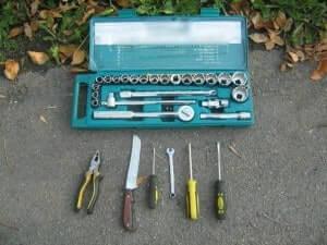 Инструменты для снятия заднего бампера