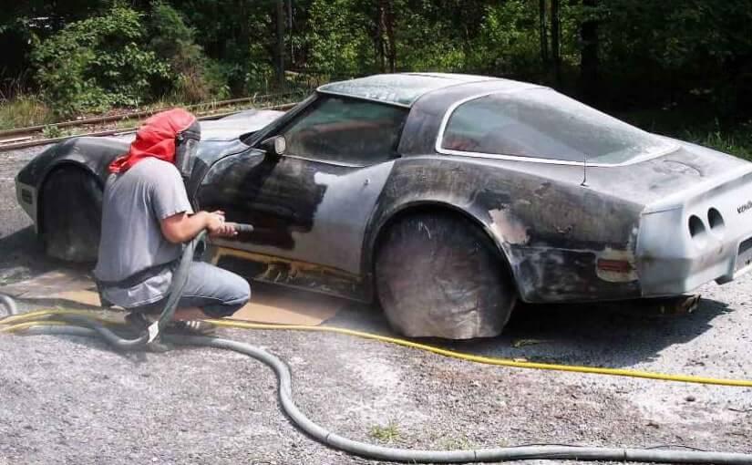 Как удалить краску с автомобиля своими руками