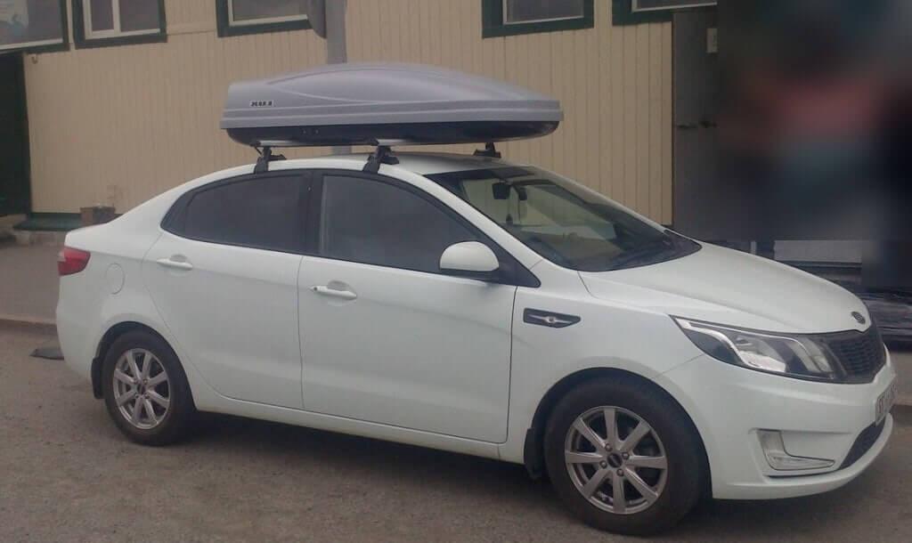 как установить багажник на крышу киа пиканто
