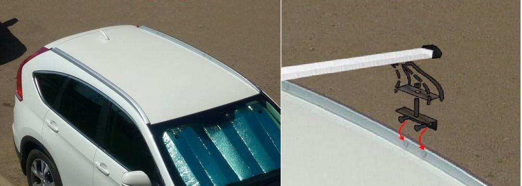 Схема монтажа багажника крыши Honda CR-V 4