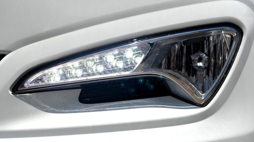 ДХО в противотуманных фарах Hyundai Solaris