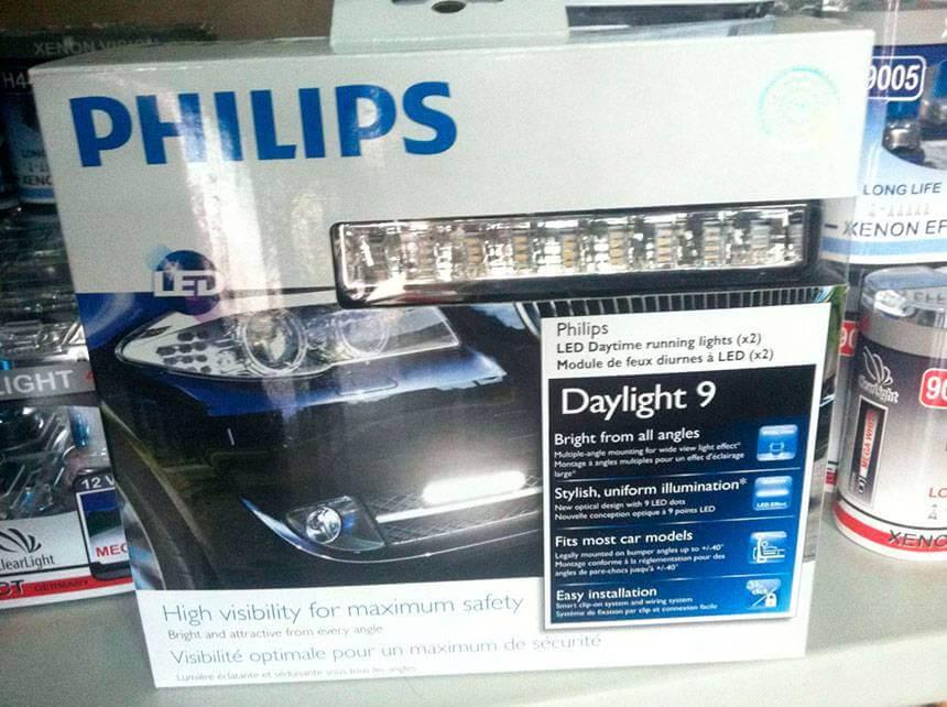 Дневные ходовые огни Philips LED DRL Daylight 9
