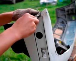 Как отремонтировать пластиковый бампер
