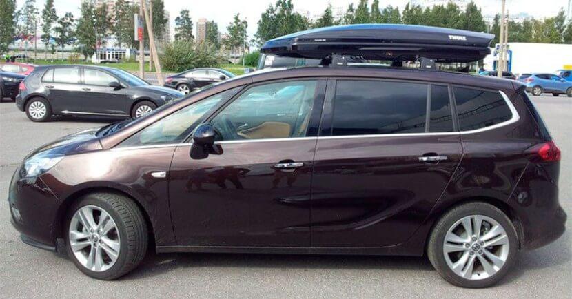 Как установить багажник на крышу автомобиля Опель Зафира