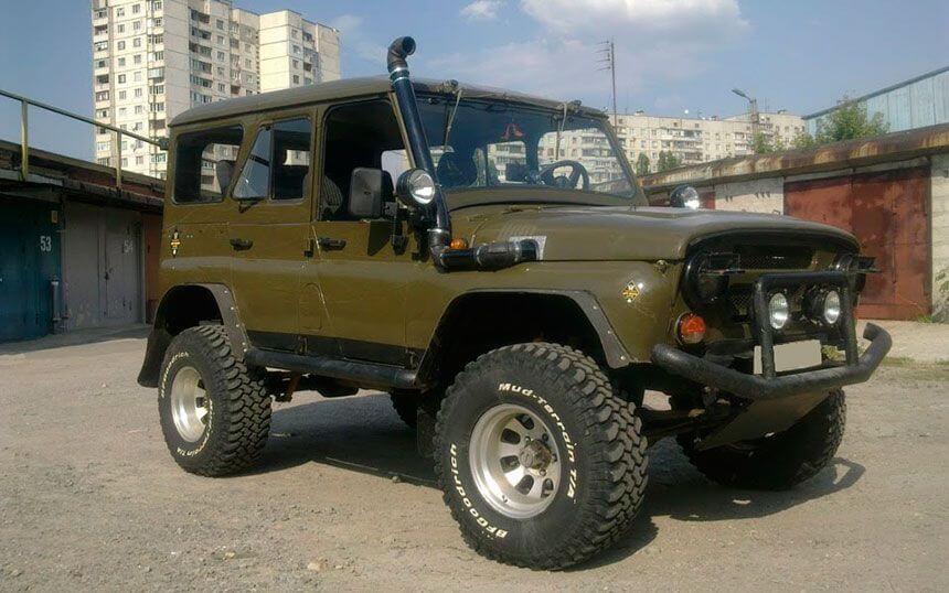 УАЗ 469 4Х4 литые диски (тюнинг для охоты и рыбалки)