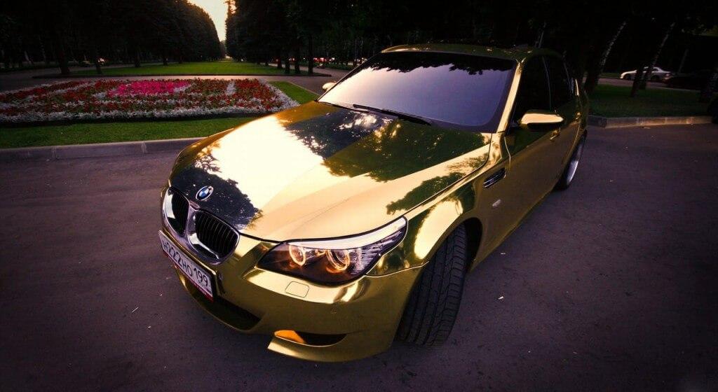 Виниловая пленка эффектного золотого цвета
