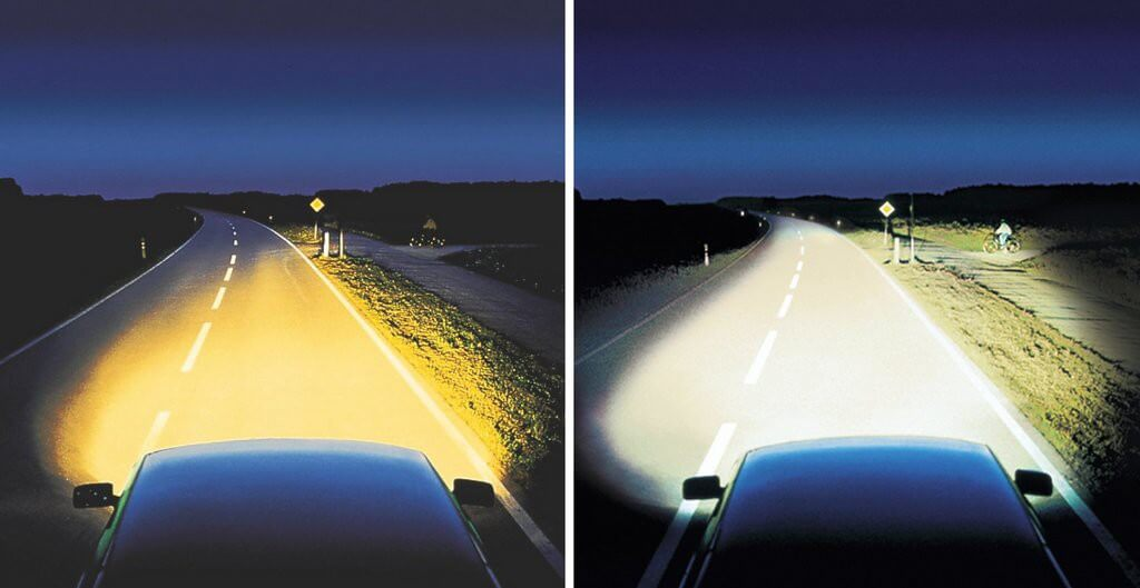 Размер светового пучка излучаемого лампой