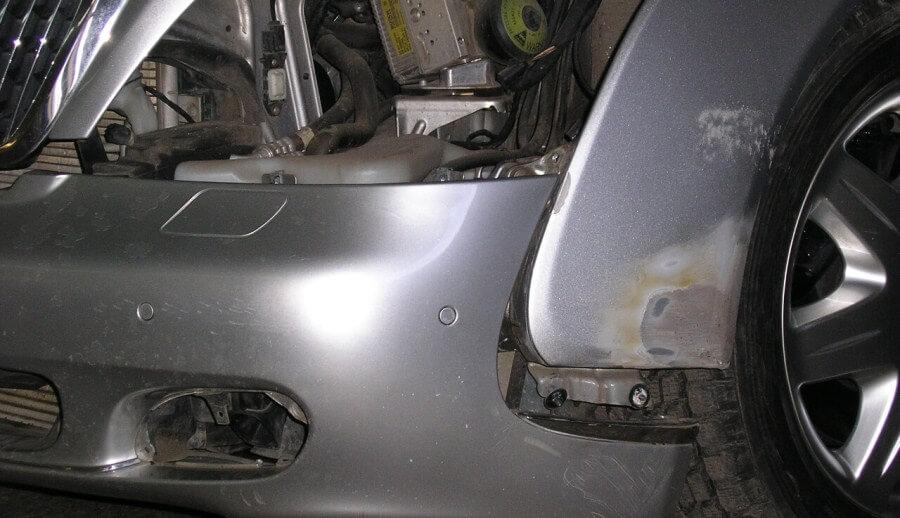 Способы рихтовки вмятин на крыле автомобиля без покраски