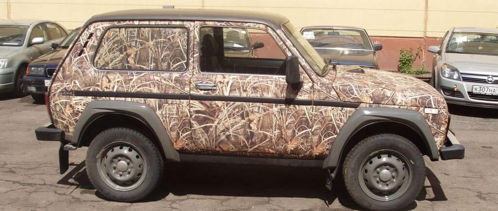 Тюнинг авто с помощью покраски в камуфляж