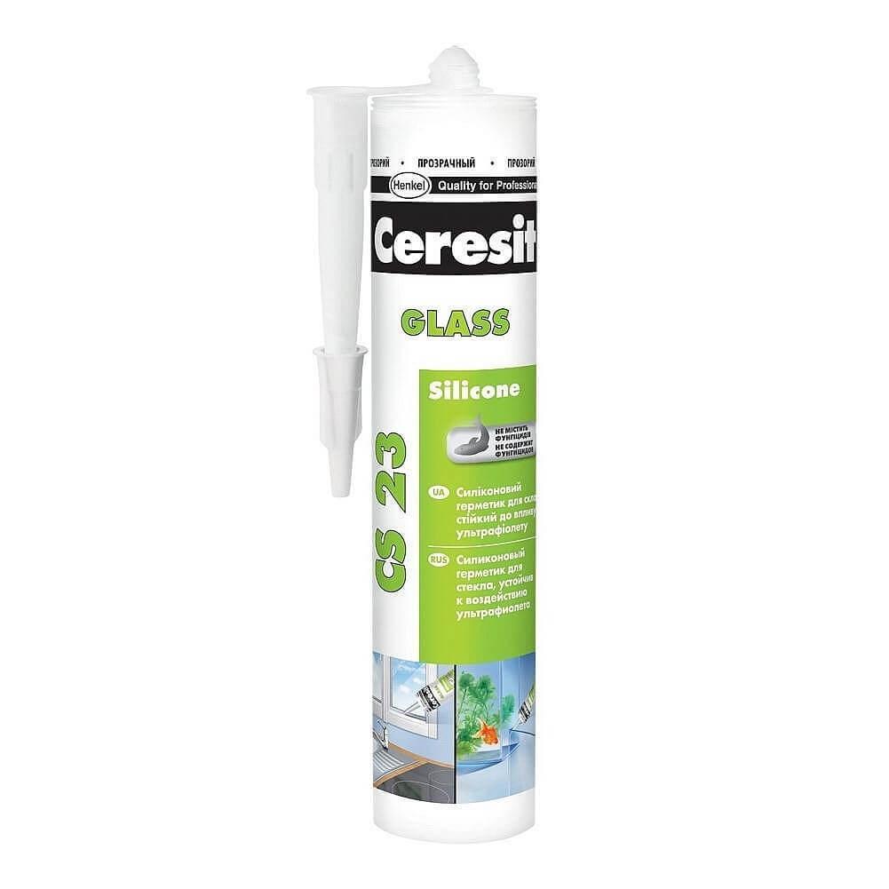 Силиконовый герметик Ceresit Glass CS 23 для стекла
