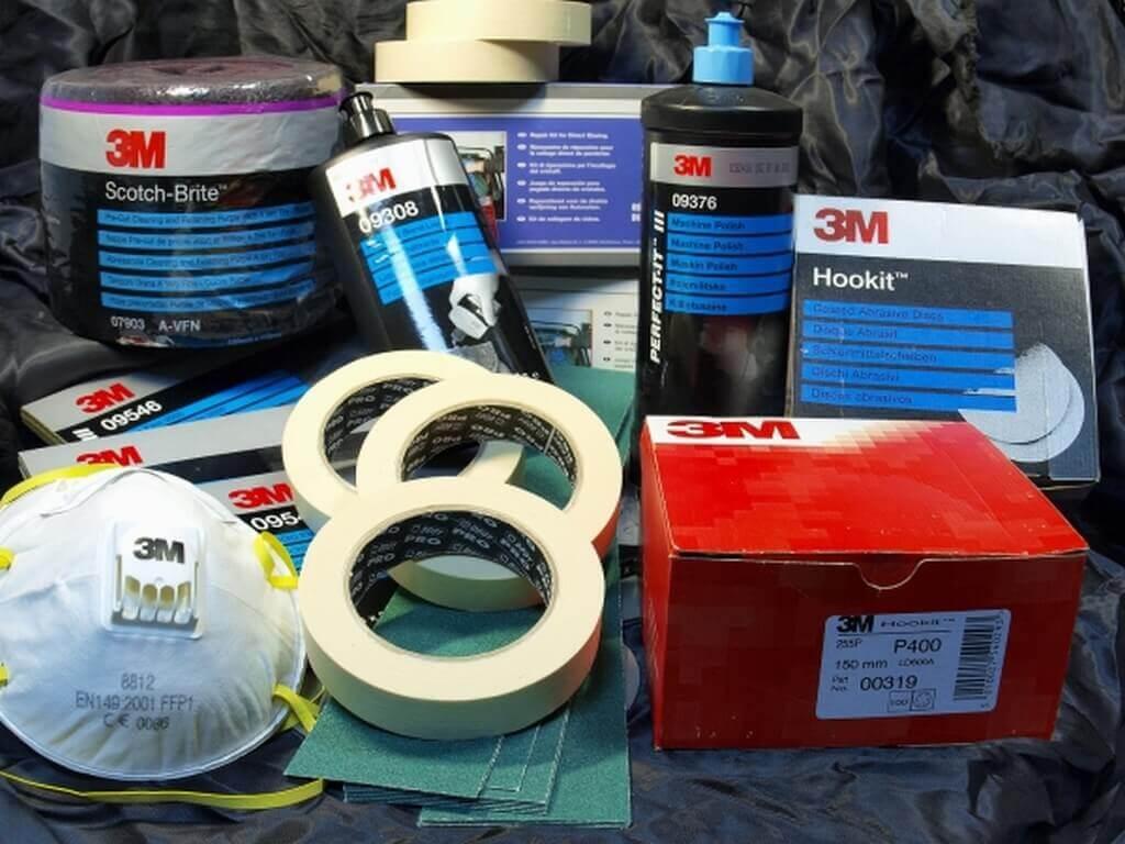 Вещи и материалы для покраски машины