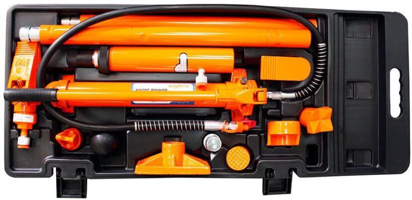 Набор гидравлического инструмента для кузовного ремонта 10т, 17 предметов