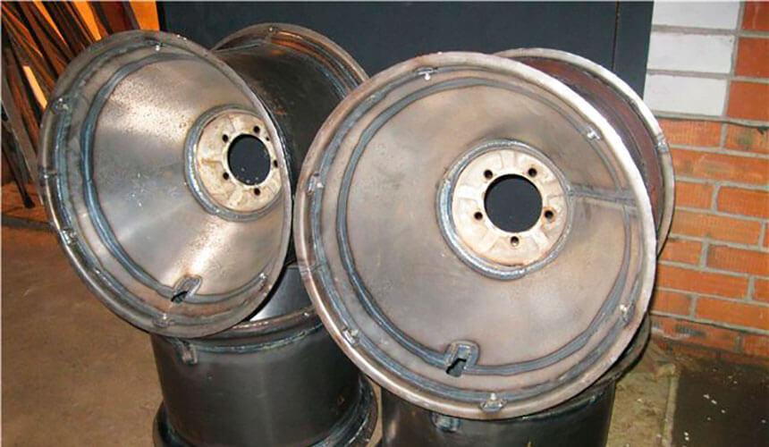 Изготовления дисков для шин низкого давления своими руками